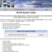 World Airport Codes, 2003 Screeshot